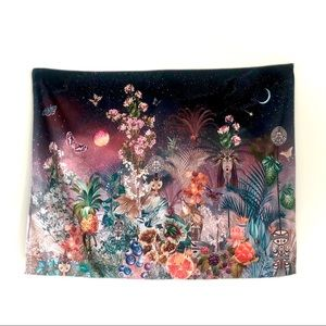Wall art tapestry textiles fabric floral landscape